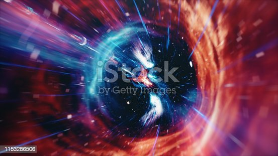 664390112 istock photo 3D illustration tunnel or wormhole, tunnel that can connect one universe with another. Abstract speed tunnel warp in space, wormhole or black hole, scene of overcoming the temporary space in cosmos. 1153286506
