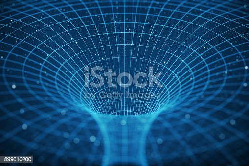 istock 3D illustration tunnel or wormhole, tunnel that can connect one universe with another. Abstract speed tunnel warp in space, wormhole or black hole, scene of overcoming the temporary space in cosmos 899010200