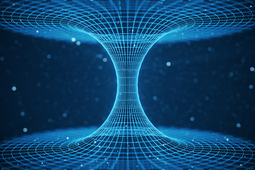 3d Illustration Tunnel Or Wormhole Tunnel That Can Connect One Universe With Another Abstract Speed Tunnel Warp In Space Wormhole Or Black Hole Scene Of Overcoming The Temporary Space In Cosmos Stock Photo - Download Image Now