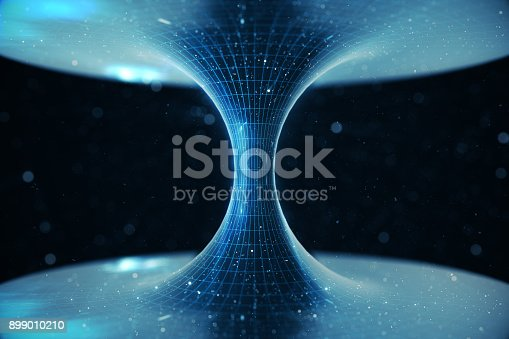 istock 3D illustration tunnel or wormhole, tunnel that can connect one universe with another. Abstract speed tunnel warp in space, wormhole or black hole, scene of overcoming the temporary space in cosmos 899010210