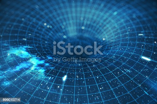 istock 3D illustration tunnel or wormhole, tunnel that can connect one universe with another. Abstract speed tunnel warp in space, wormhole or black hole, scene of overcoming the temporary space in cosmos 899010214
