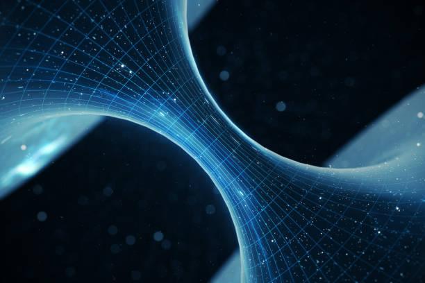 3d illustration tunnel eller maskhål, tunnel som kan ansluta ett universum med en annan. abstrakta hastighet tunnel varp i utrymme, maskhål eller svart hål, scen för att övervinna det tillfälligt utrymmet i kosmos - teleport bildbanksfoton och bilder