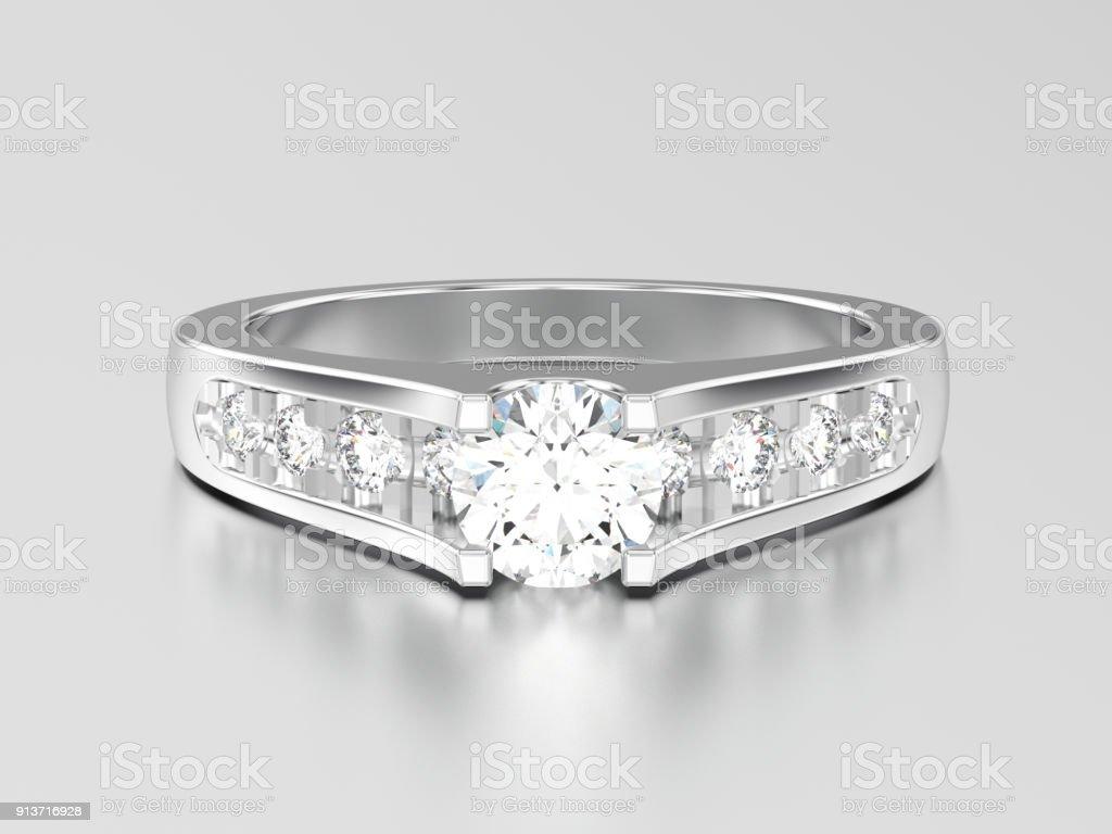 3dillustration Weißgold Oder Silber Dekorative Hochzeit