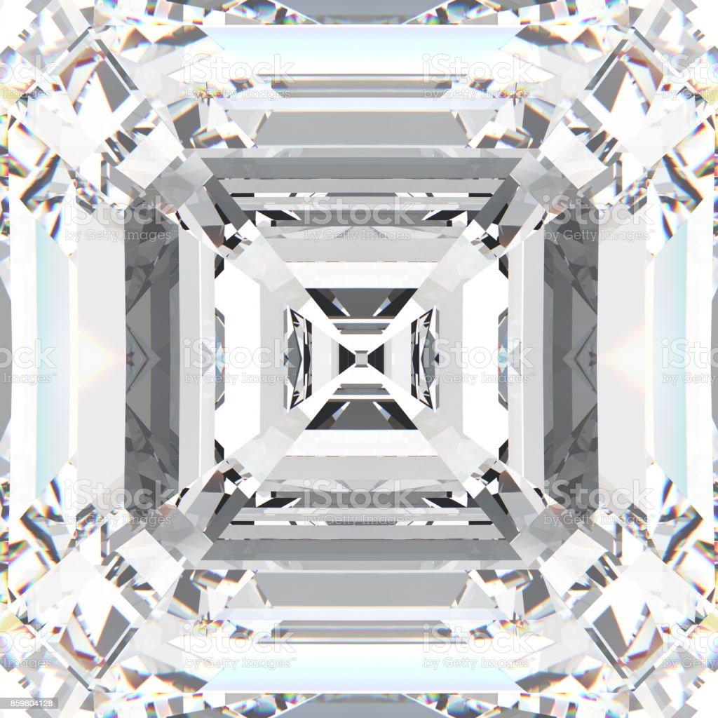 3D illustration zoom white gemstone expensive jewelry diamond stock photo