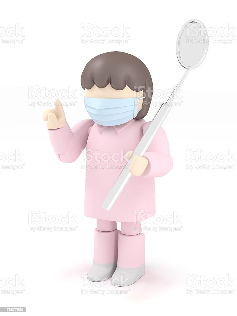 illustration Dental checkup stock photo