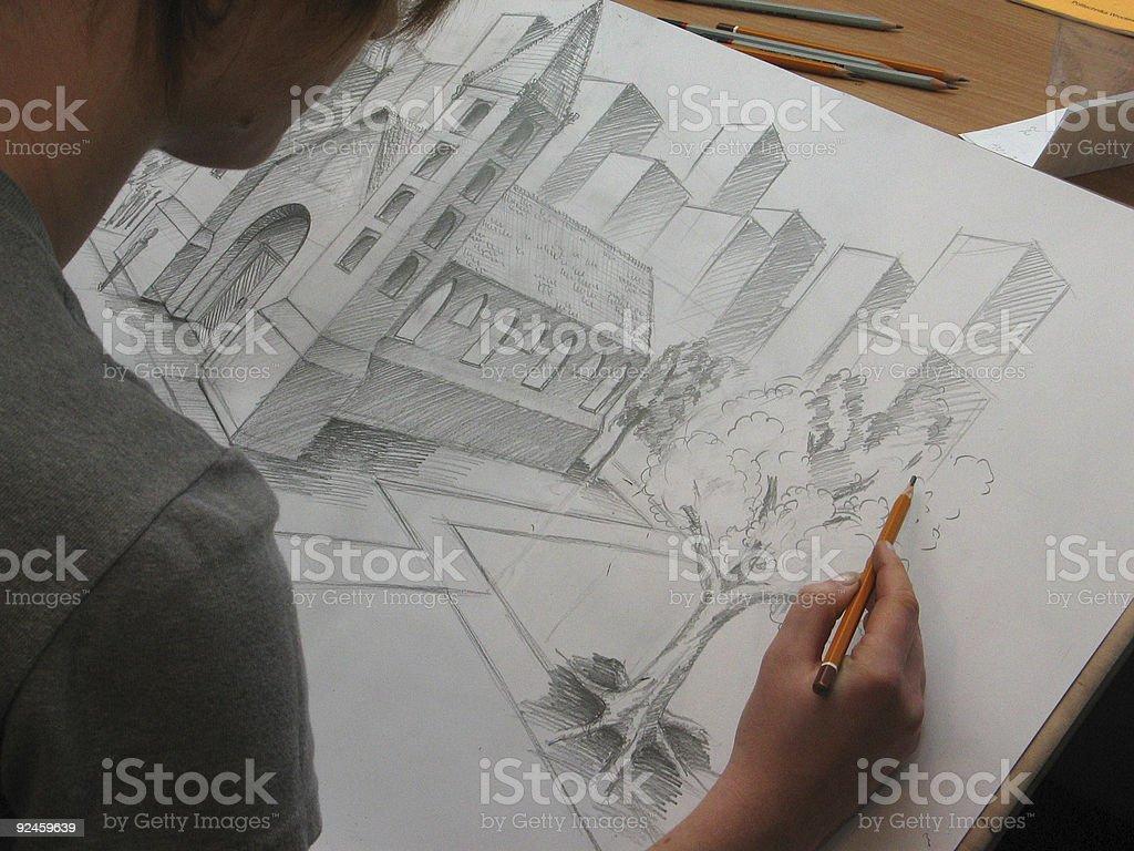 illustrator drawing royalty-free stock photo