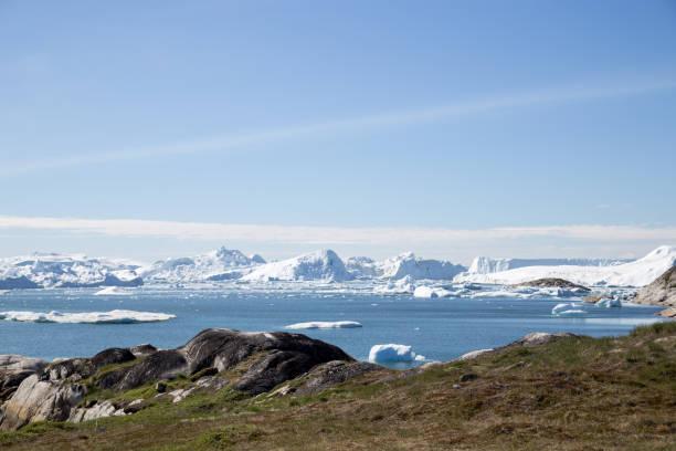 Ilulissat Icefjord UNESCO site stock photo