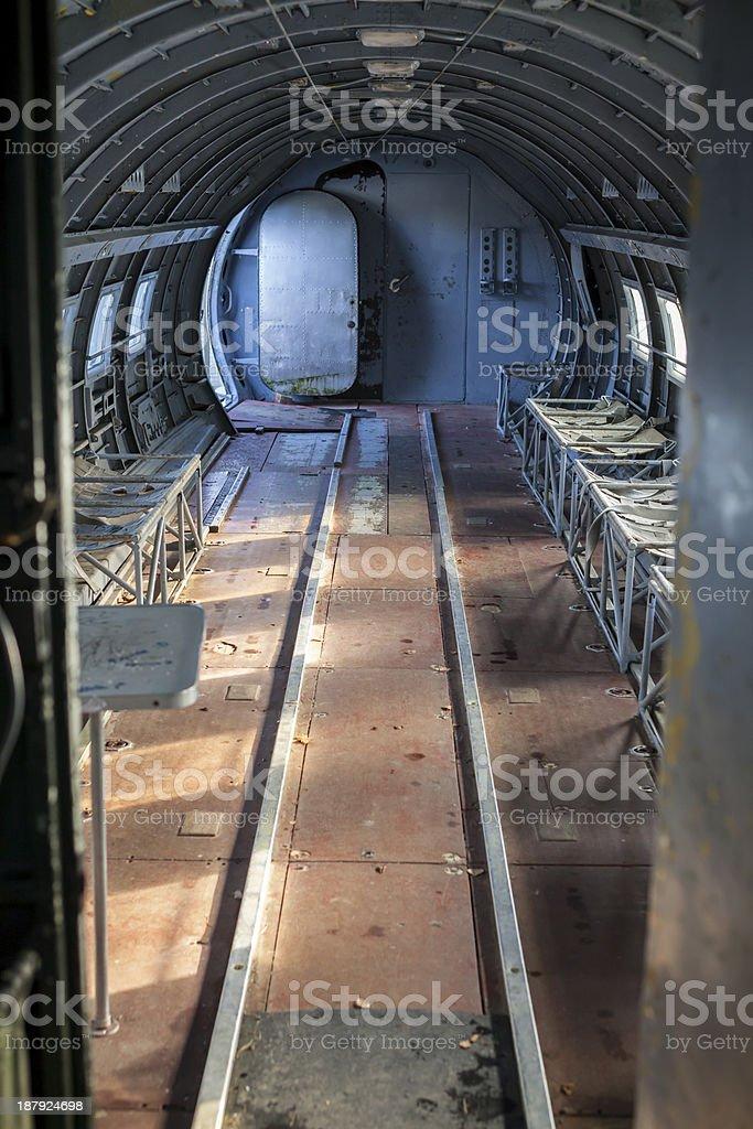 Ilyushin Il-14 interior royalty-free stock photo