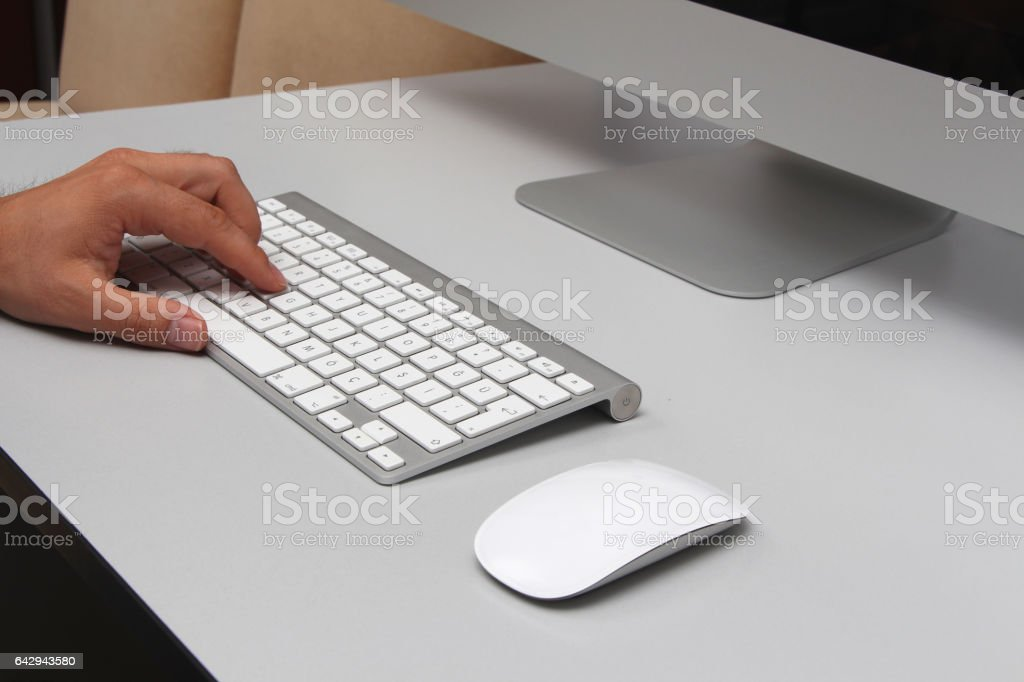 imac desktop computer stock photo