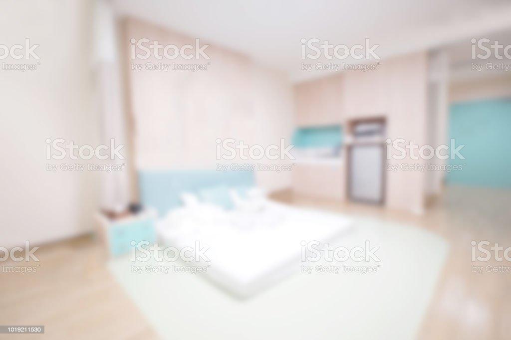 Bild Unschärfe Hintergrund Der Modernen Schlafzimmer Grau ...