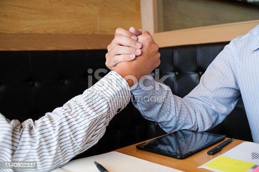 522304914 istock photo Image business mans handshake. Business partnership meeting successful concept. 1140802337