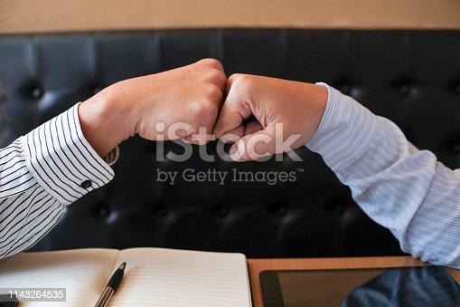 522304914 istock photo Image business mans handshake. Business partnership meeting successful concept. 1143264535