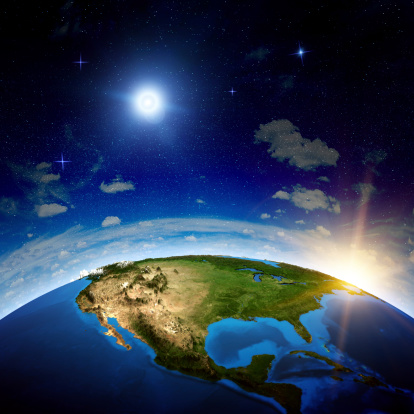 istock Image from space of North America 455700105