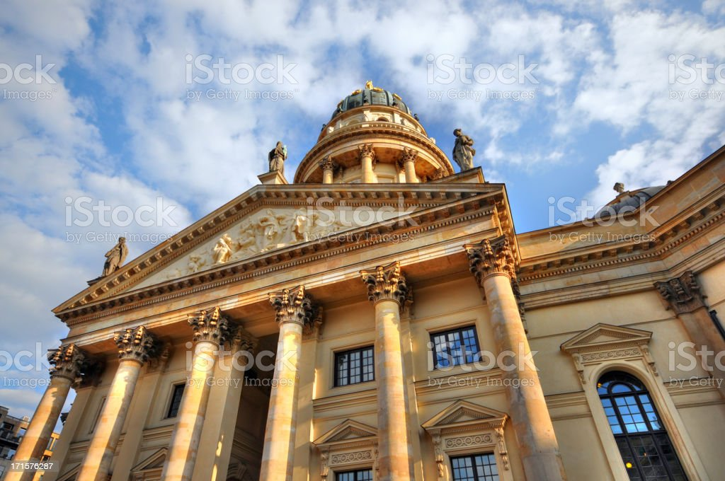 HDR image German Cathedral at Gendarmenmarkt (Berlin Germany) royalty-free stock photo