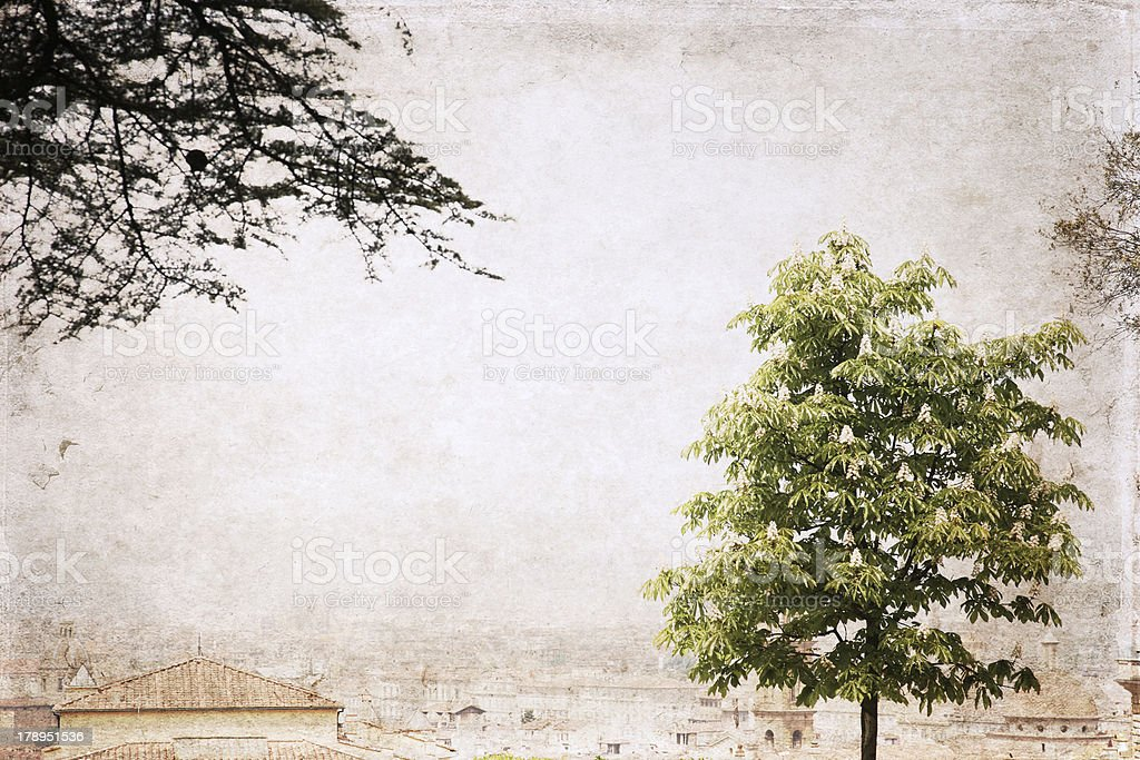 image in grunge style,  Florence royalty-free stock photo