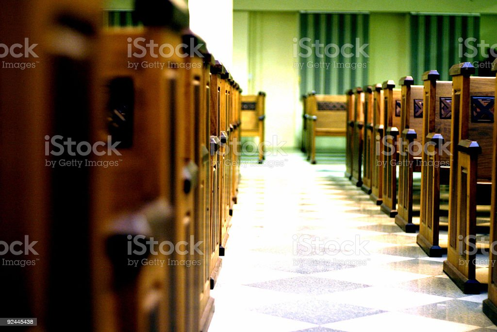 Image in the church royalty-free stock photo