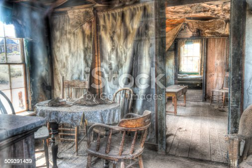 istock HDR Image Inside of house Ghost town old mining village 509391439
