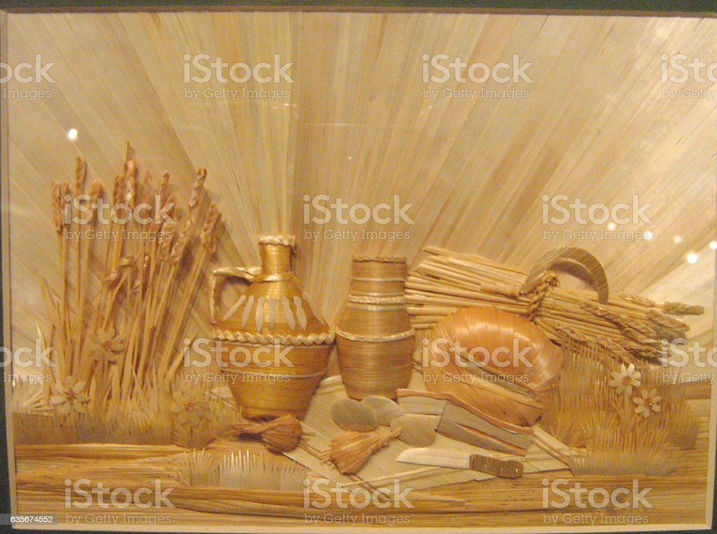Image made from straw stock photo
