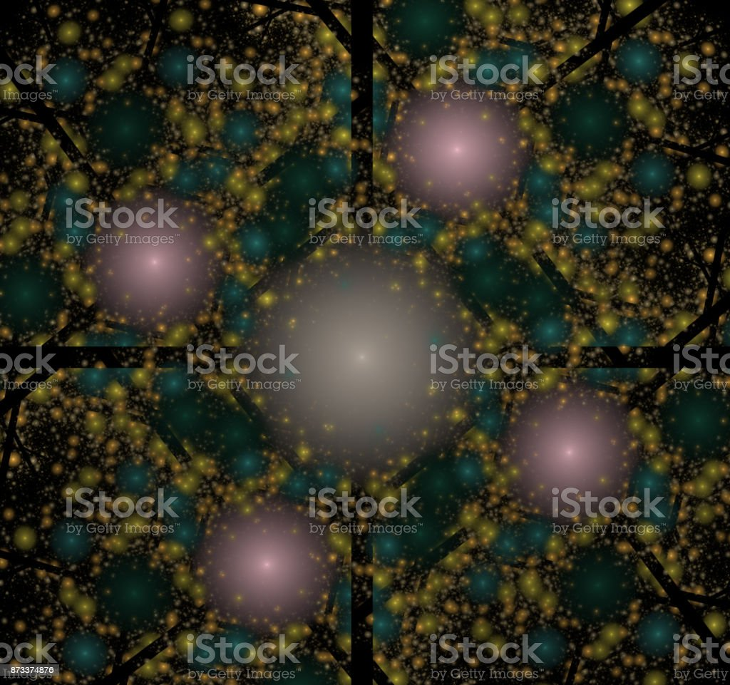 Image molecules and atoms stock photo