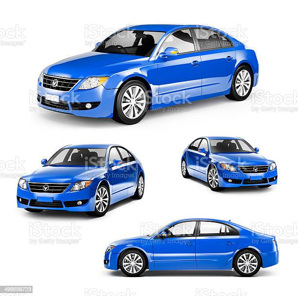 Image of a blue car on different positions picture id499556723?b=1&k=6&m=499556723&s=612x612&h=n naodc0yfcow4k5rbuganzub1p7klsg3aopzs8b gq=