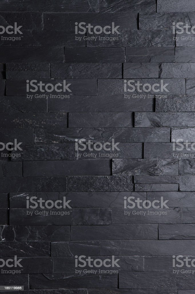 Image of a brick black wall wallpaper stock photo