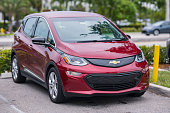 Hollywood, FL, USA - June 4, 2019: Image of a Chevy Bolt Electric Vehicle