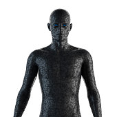 istock 3D image of a cyborg 538646514