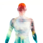 istock 3D image of a cyborg 538646526