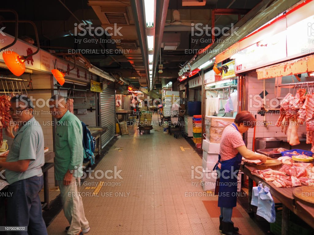 Image of a food market inside a building near Lok Ku Road / Queen\'s...
