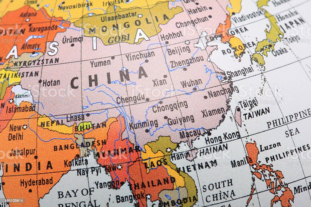 Image Of A Globe Focusing On Southeast Asia Stock Photo