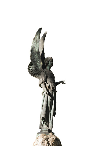 Image of a guardian angel isolated on white background