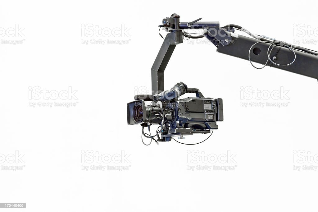 Image of a jib camera with white background stock photo