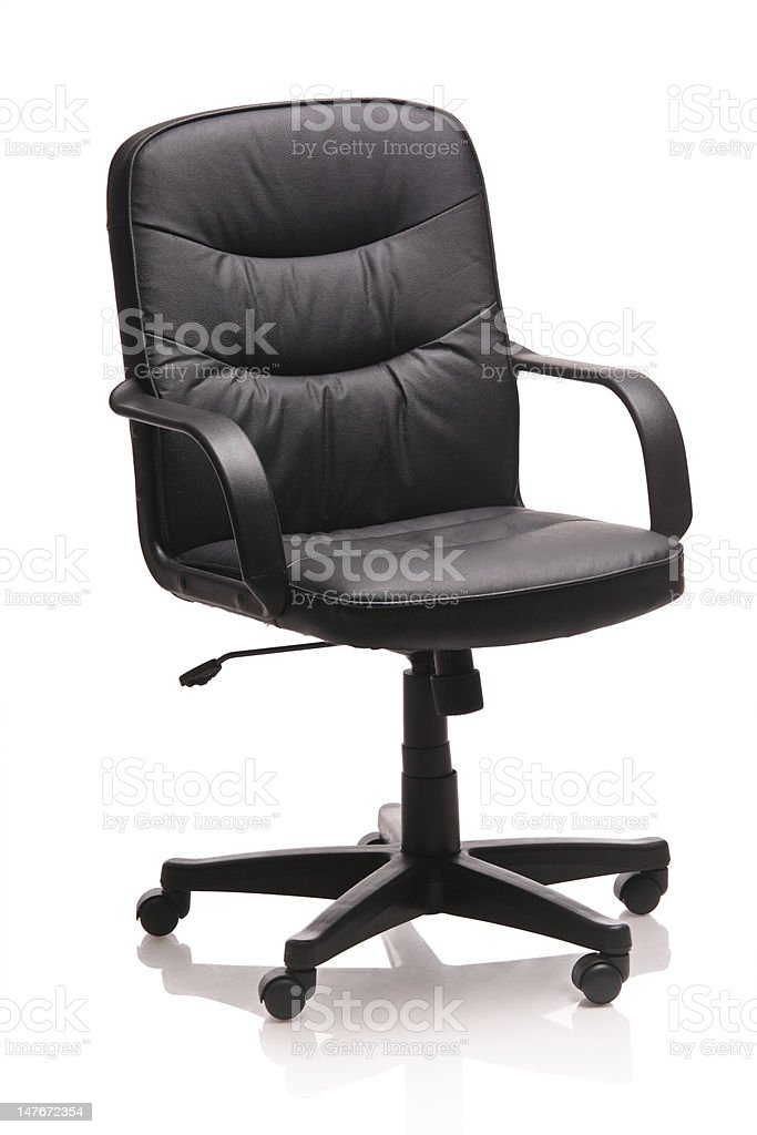 Image of a leather office chair royalty-free stock photo