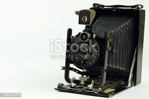 Detailed image of an antique camera
