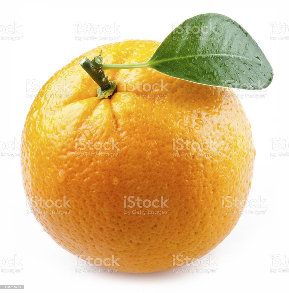 Image of a ripe orange. stock photo