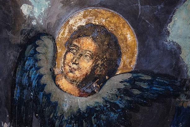 bild von saint auf fresken - engel zeichnen stock-fotos und bilder