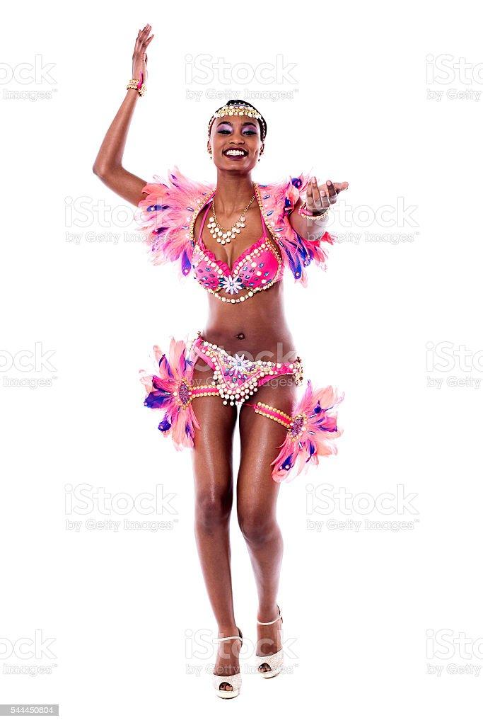 Image of a samba dancer posing to camera royalty-free stock photo