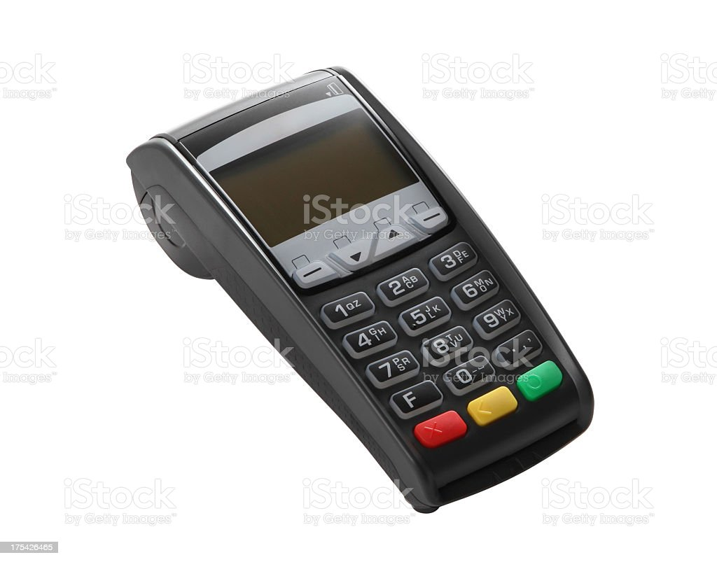 Image of a turned off credit card reader stock photo