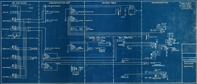 a vintage wiring blueprint