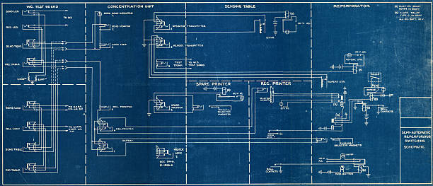 image of a wiring blueprint with a black boarder - diagram stock pictures, royalty-free photos & images