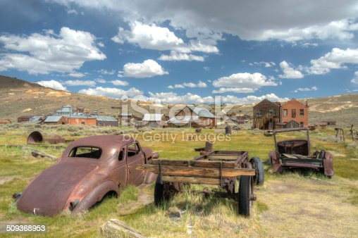 istock HDR image of abandoned rusty car in Bodie California 509368953