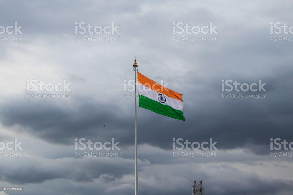 Imagem de um indiano cor bandeira - foto de acervo