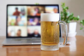 istock Image of an online drinking session 1219293047
