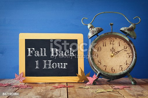 istock Image of autumn Time Change. Fall back concept 847192084