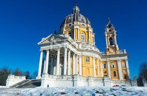Image of baroque Basilica di Superga church on the Turin , Italy