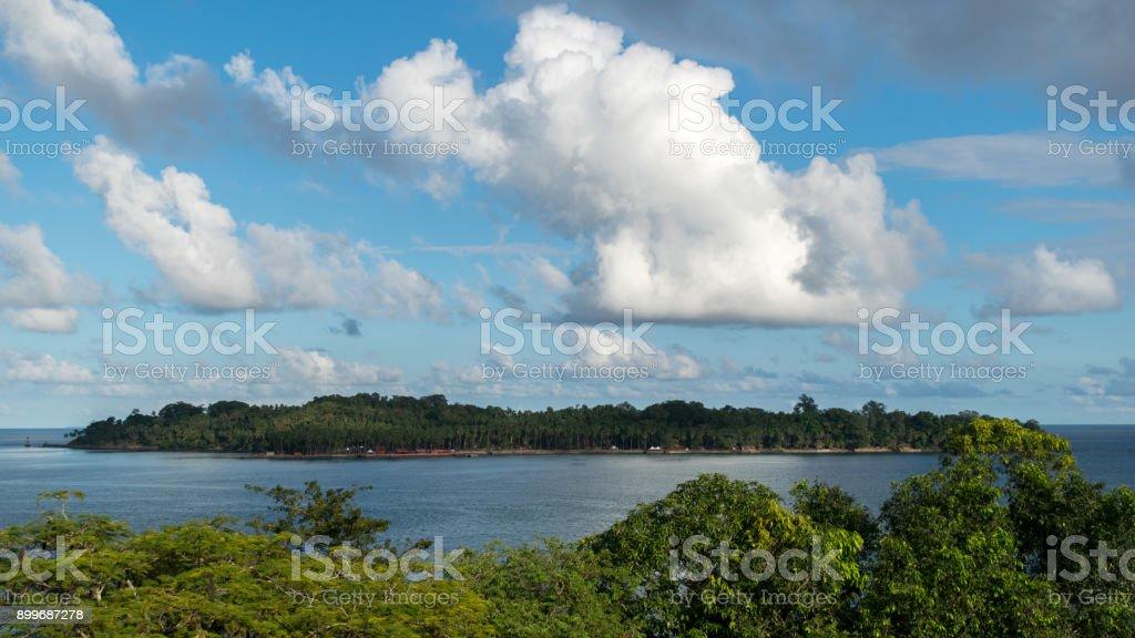 Image Of Beautiful Rose Island stock photo