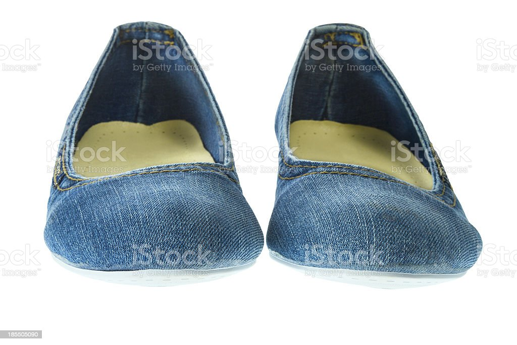 image of blue jeans women fashion slippers royalty-free stock photo