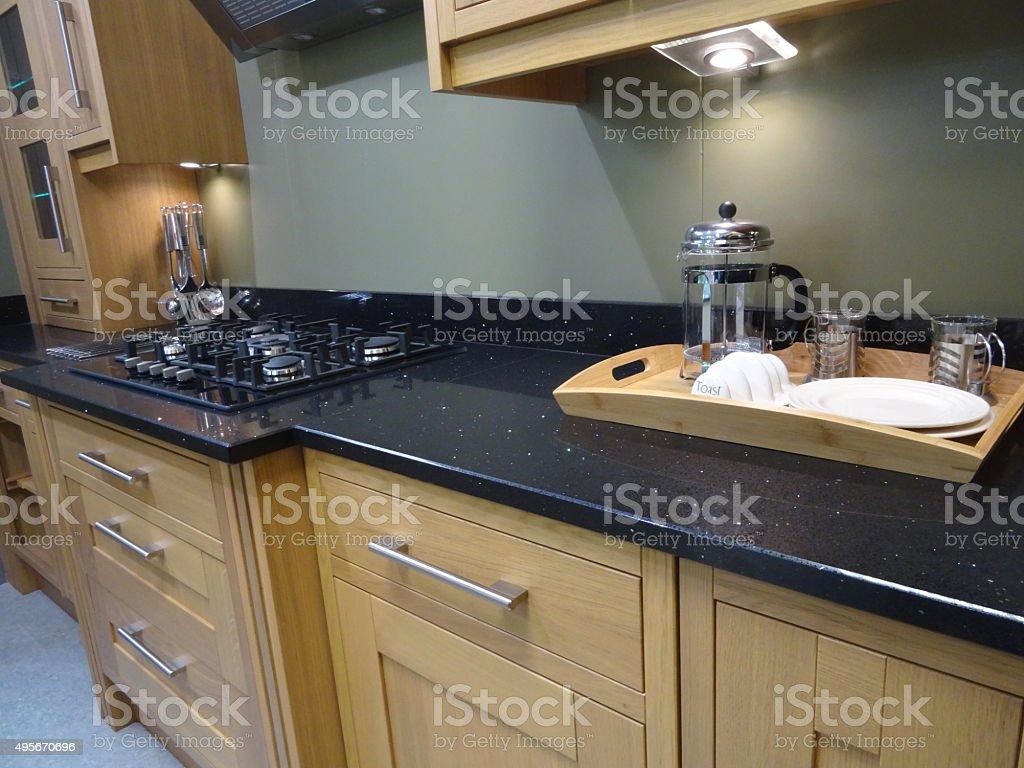 Plan De Travail Cuisine En Granit Noir photo libre de droit de image du petitdéjeuner sur plateau