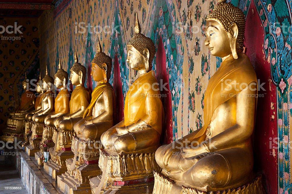 Image of Buddha that a cloister Wat arun Bangkok,Thailand royalty-free stock photo