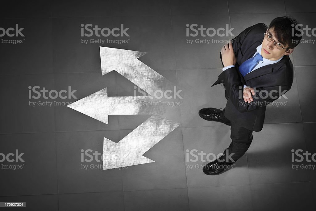 Image of businessman top view stock photo
